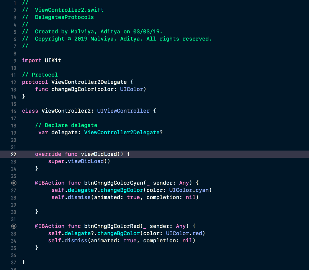 Full Code ViewController2