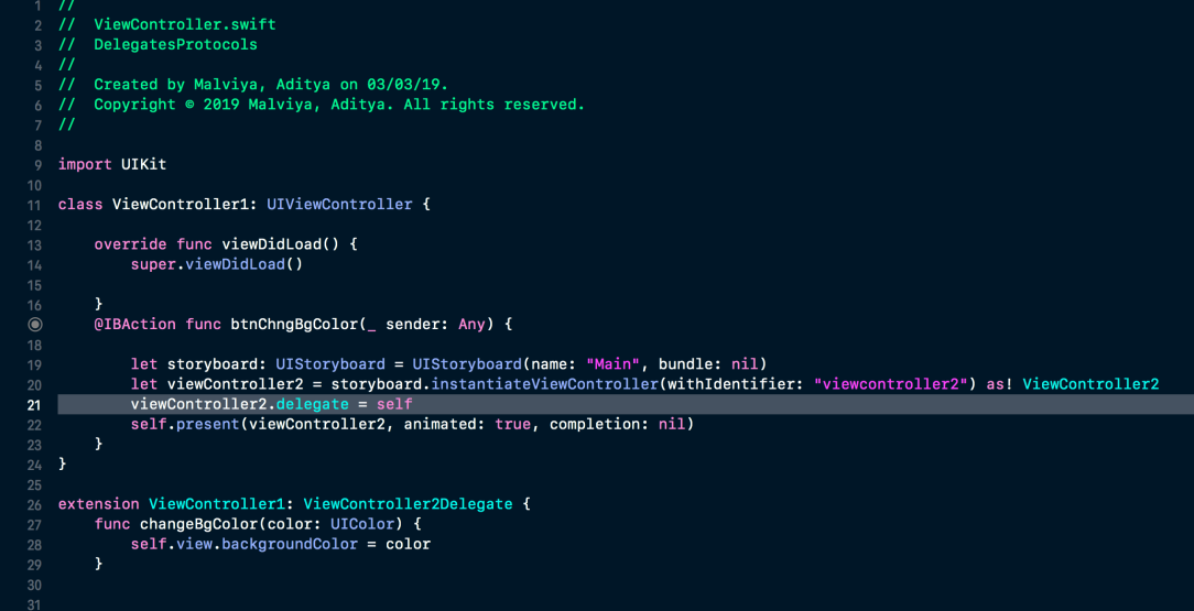 Full Code ViewController1
