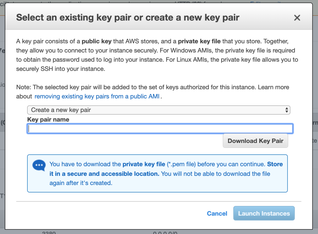 aws key creation