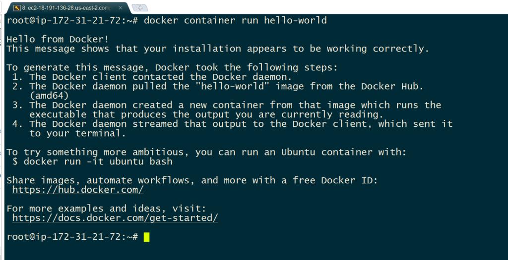 Run docker container